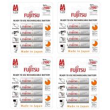 16 X Fujitsu AA 2000 Mah Recargables Ni-mh LR06 R06 lowself Descarga Baterías