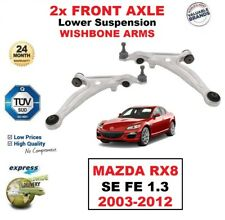 2x FRONT AXLE L+R Lower Wishbone CONTROL ARMS for MAZDA RX8 SE FE 1.3 2003-2012