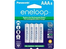 8-Card AAA NiMH Panasonic Eneloop Low Discharge Rechargeable Batteries (800 mAh)