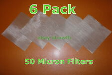 "710 (6 Pack) 4"" x 4"" - 50 Micron True Fine Stainless Steel Mesh Screen! 316"