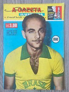 1958 FIFA WORLD CUP PELE DEBUT USSR SOVIET UNION WALES + ENGLAND BRAZIL MAGAZINE