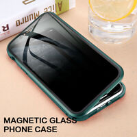 Privacy Magnet Glass Case For iPhone SE XR 11 Pro XS Max 7 8 Plus X