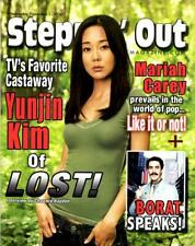 STEPPIN OUT MAGAZINE - ABC LOST COVER YUNJIN KIM - MARIAH CAREY - BORAT SPEAKS