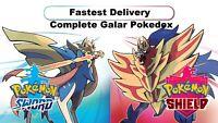 Pokemon Shield & Sword - Non-Shiny Galar Pokedex (Shiny Charm)