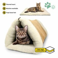 Warm Cozy PET PALACE Cave Bed Blanket Tent Tunnel and Mat for Pet Cat Puppy