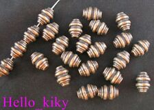 80Pcs Antiqued copper plt screw bicone barrel spacers A200