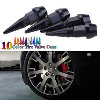 4x Car Bike Motor Wheel Tire Tyre Air Valve Caps Stem Cover Accessories BLACK