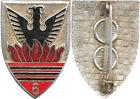 6° Régiment de Chasseurs d'Afrique, émail, flammes rouge foncé, Drago 157 (7602)