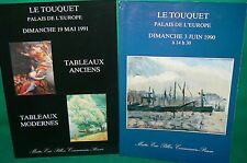 2 catalogues vente aux enchères LE TOUQUET  tableaux modernes et anciens