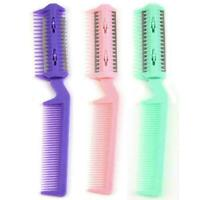 Top Pet Hair Trimmer Comb 2 Razor Rakes Cutting Grooming Tool Cat C3H6 F T1I8