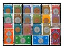 Guernsey 1979-81 Coins Definitives Set of 23 Stamps SG177/98 Mint Unhinged 9-9