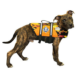 Racing Flames Doggy Life Jacket