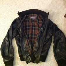 Ben Sherman leather bomber jacket