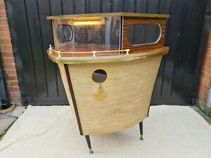 Vintage 1960's Retro Boat/Ship Cocktail Bar Used