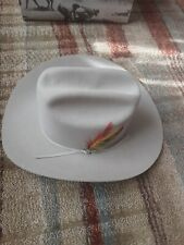 Stetson Cowboy Hat. Rancher Silverbelly With Original Box And Reciept