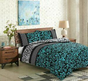 Elegant Reversible Printed 100% Cotton Bedding Set / Duvet Cover Sets