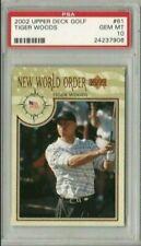 Tiger Woods 2002 Upper Deck UD Golf New World Order PSA 10 Gem Mint *POP 51*