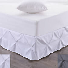 "Hudson Pintuck Bed skirt Ruffle 14"" Drop"