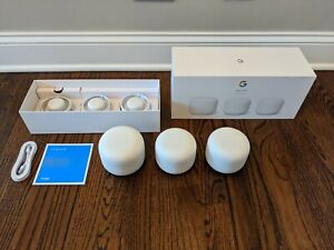 Google Nest Wi-Fi Wifi Router with 2 Access Points - New & in Original Packaging