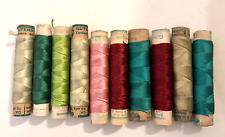 Silk Gutermann Sewing Thread 10 Spools Some Used Most New VERY ANTIQUE