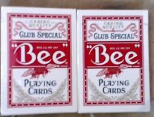 BEE Club Special Poker Casino Quality Playing Cards - Red Set of 2