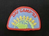 """🌎  Vintage 1993 Girl Scouts Day Camp '93 Patch 3"""" NOS Around The World 🌎"""