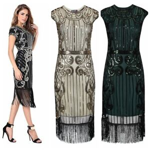 Great Gatsby Costume 1920s Peaky Blinders Cocktail Party Flapper Dress Gift