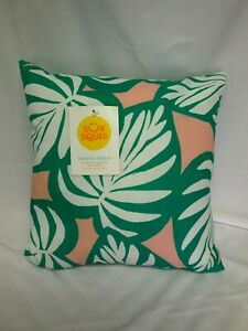 """TARGET SUN SQUAD COLORFUL OUTDOOR PILLOW UV TREATED FADE RESISTANCE 16"""" X 16"""""""