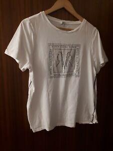 Ladies River Island Logo White T Shirt Size 16