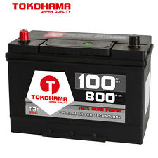 TOKOHAMA Autobatterie 12V 100Ah 800A Japan Asia + Pluspol Links Batterie 60033