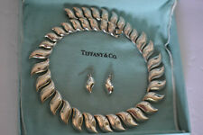 "Vintage Tiffany & Co Peretti Sun Wave Necklace Sterling Silver 17"" Very Rare"