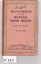 K&E Mannheim Duplex Slide Rule sliderule, VG cond, (P264)