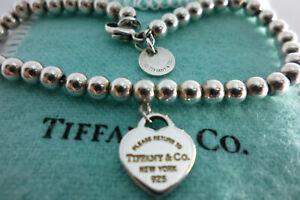 Genuine Tiffany & Co.Heart Bracelet & pouch