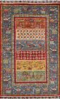 Geometric Traditional Oriental Area Rug Hand-knotted Wool Carpet Home Decor 3x4