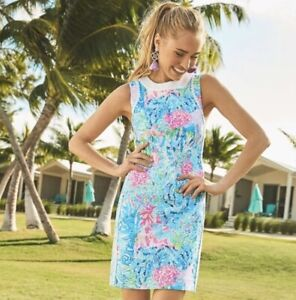 Lilly Pulitzer Mila Stretch Shift Dress Multi Sz 10 NWT $188