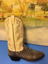"DAN POST 2236 Yellow Leather ""Rare"" Western Cowboy Boots Mens 12D"