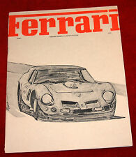 Ferrari Owners Club monthly Newsletter August 1973