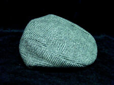 Dorfman Pacific Mens GRAY wool Houndstooth Ivy Golfing Duck Bill hat LARGE