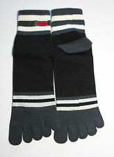 """Paire de chaussettes à doigts noire """"Something"""" neuve"""