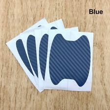 4x Blue Carbon Fiber Car Door Handle Anti-Scratch Protective Film Stickers Set
