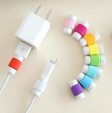 10Pcs USB COLORFUL CABLE PROTECTOR For iPhone 4 4S 5 5S 5C 6 Plus 6S SE Cases