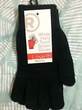 New Radio Shack Whole Hand Touch Screen Gloves Men Black L/XL Large, Extra Large