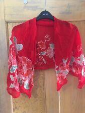 Gottex ladies red floral print scarf
