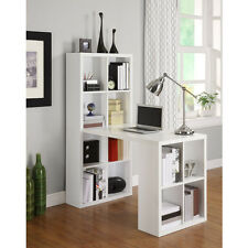 Hobby Desk Craft Table Bookcase Storage Student Laptop Study Work Station White