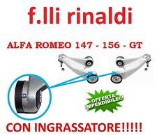 BRACCI SOSPENSIONE ANTERIORI SUPERIORI  CON INGRASSATORE ALFA ROMEO 147 156 GT