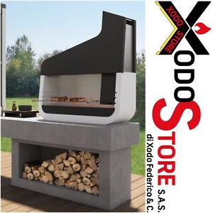 Barbecue a legna carbonella PALAZZETTI UP con PORTALEGNA - invia mail per sconto