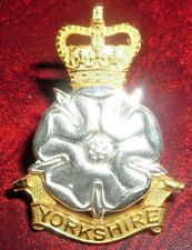 CAP BADGES-ORIGINAL 1950's OFFICERS SILVER AND GILT YORKSHIRE BRIGADE BY GAUNT