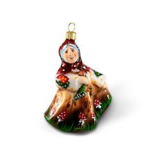 Baba Yaga - Hand blown fairy tale glass figurine - Christmas tree ornament