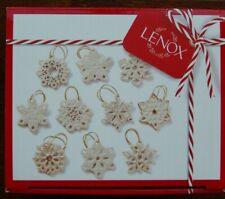 Lenox *Snowflake* 10 Tree Ornaments - New in Gift Box!