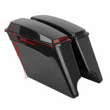 "Unpainted 5"" Stretched Extended Hard Saddlebags For Harley Touring 1993-2013 94"